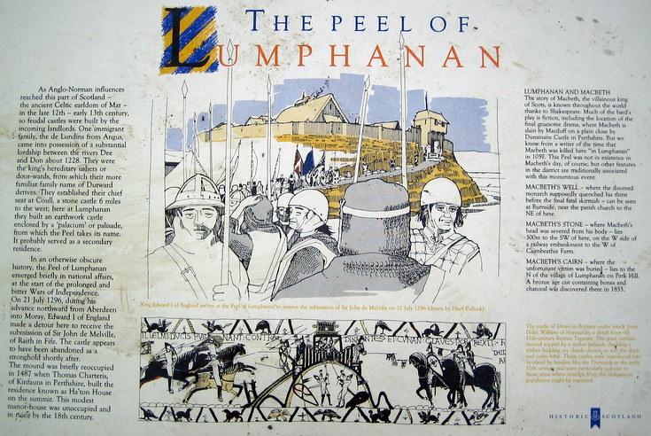 Information Board at the Peel of Lumphanan