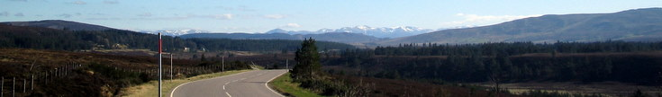 Cairngorms and Grampians from the North