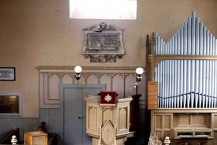 The interior of Keig Kirk