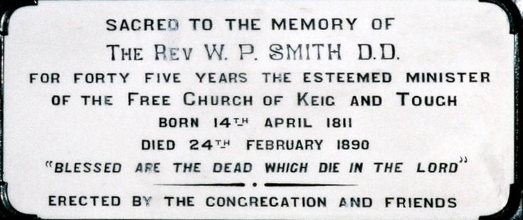 Plate to Rev. William Pirie Smith