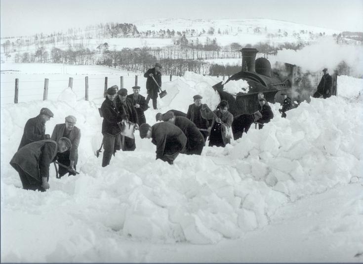Alford train stuck in snow
