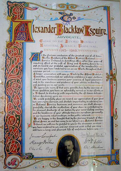 Alexander Blacklaw Squire, 1915-1918