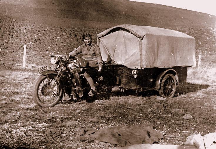 Motorbike and cart