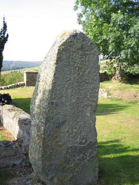 Pictish Stone at Migvie old kirk