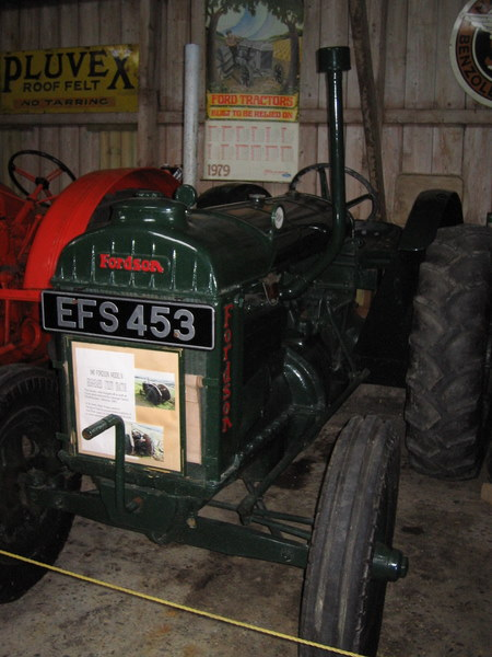 Fordson tractor at Alford Heritage Museum