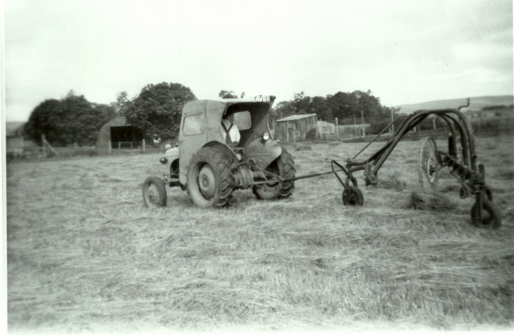 Turning hay on Howe of Alford