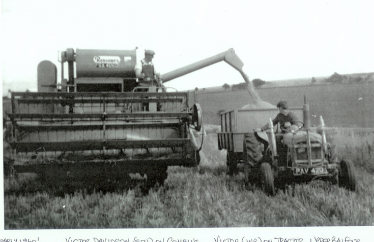 Combining at Upper Balfour, Alford