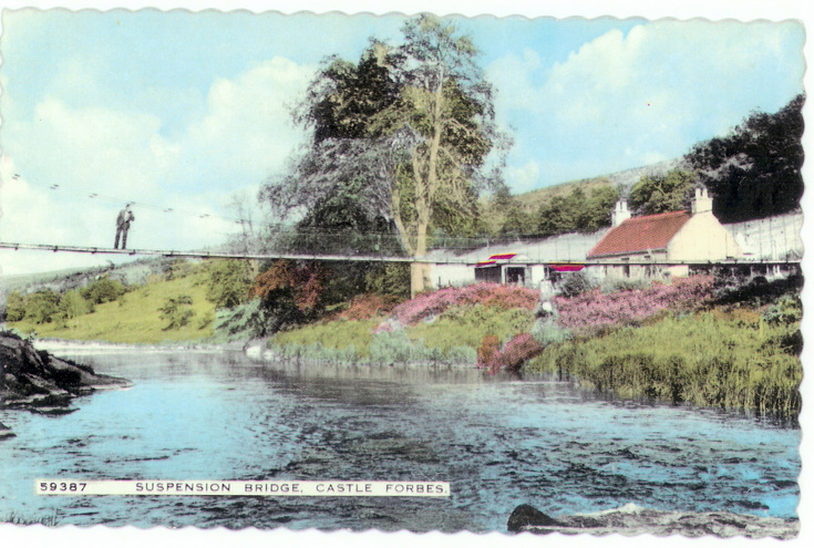 Suspension Bridge at Craigpot cottage, Keig