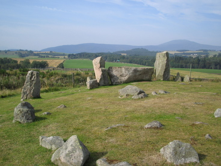 Tom na Hivrigh Stone Circle near Tarland