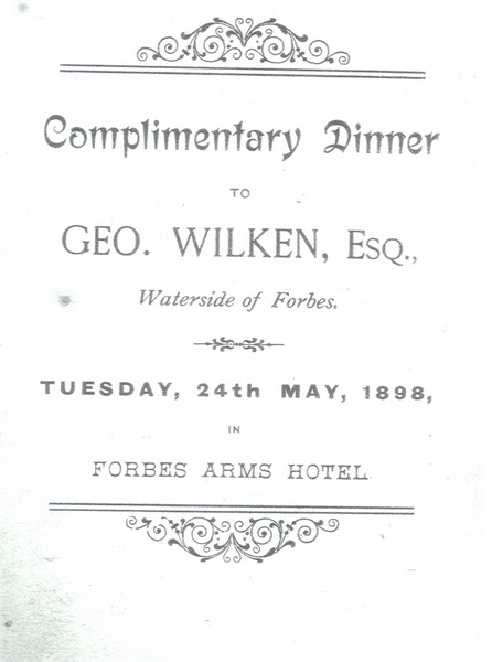 Complimentary dinner invitation