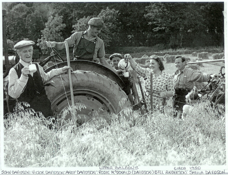 The Davidson Family at work on Upper Balfour