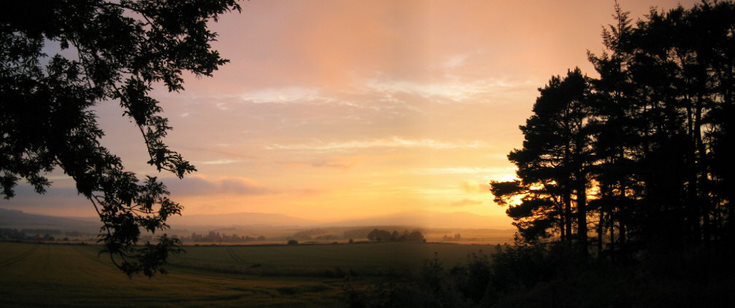 Sunset over Alford Vale