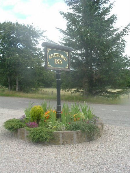 Kildrummy Inn sign