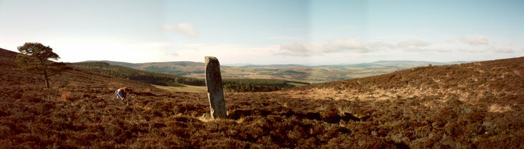 Panorama showing Luath's stone
