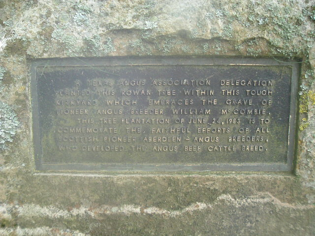 Commemorative Plaque in Tough kirkyard