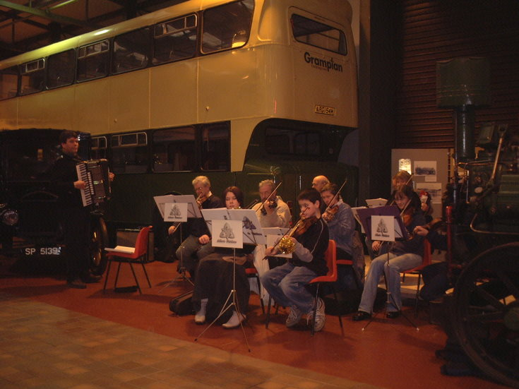 The Alford Fiddlers at Grampian Transport Museum