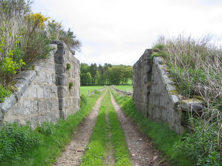 Remains of former railway bridge at Whitehouse.
