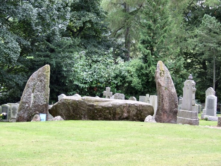 Recumbent and flankers at Midmar Stone Circle