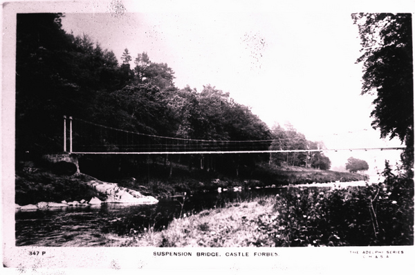 Suspension Bridge at Craigpot, Keig