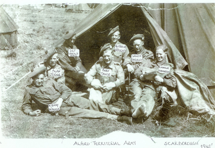 Alford Territorials at Scarborough Camp