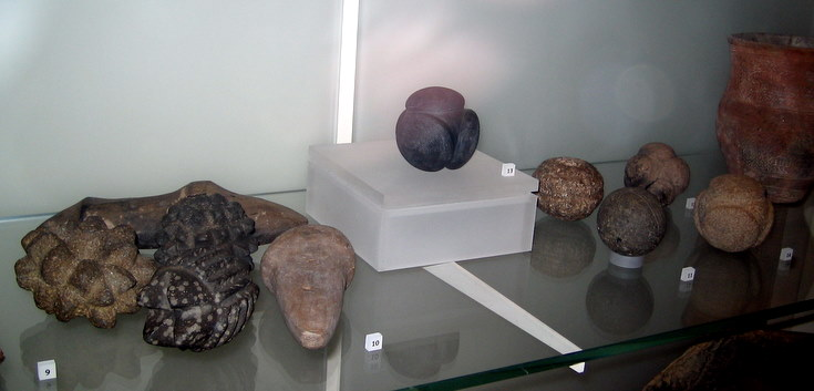 Oddly carved stone balls from Aberdeenshire