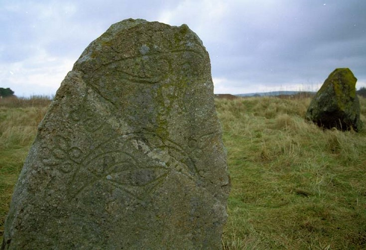 Pictish stone at Broomend of Crichie, Inverurie