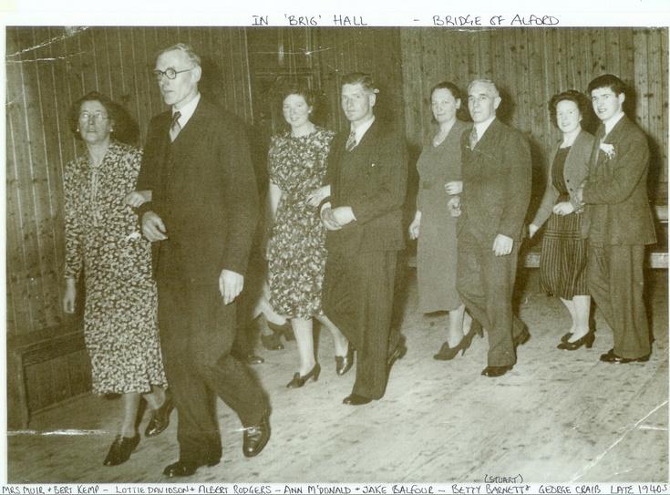 Dance in Brig Hall, Bridge of Alford