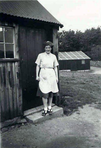 Bunty Milne (nee Reid) at Shannoch