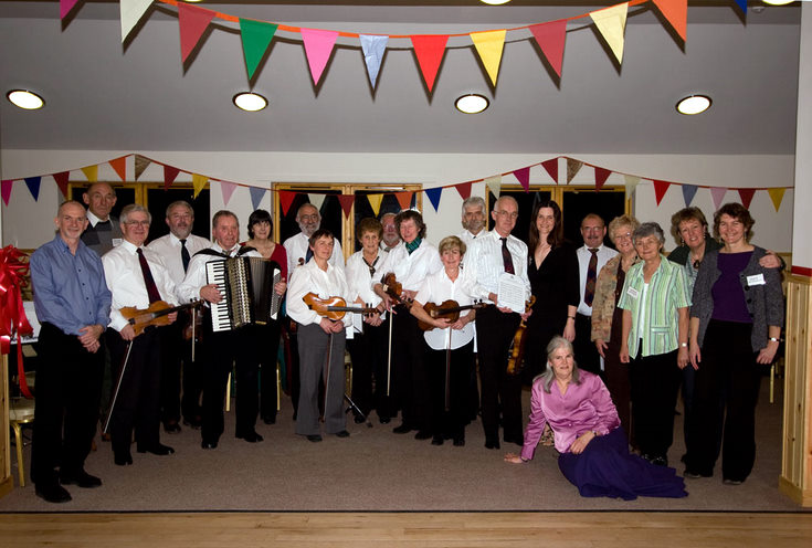 Hall Committee and Fiddlers at the Reopening