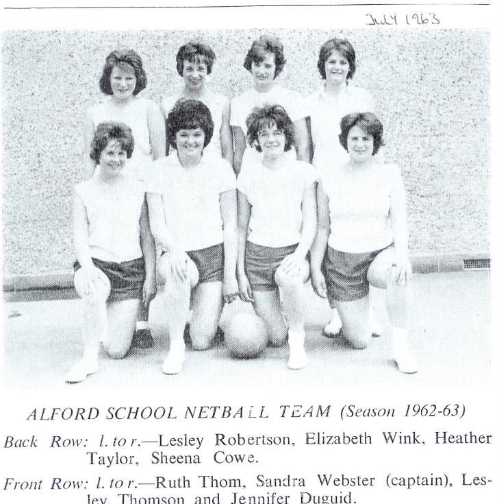 Alford School Netball Team