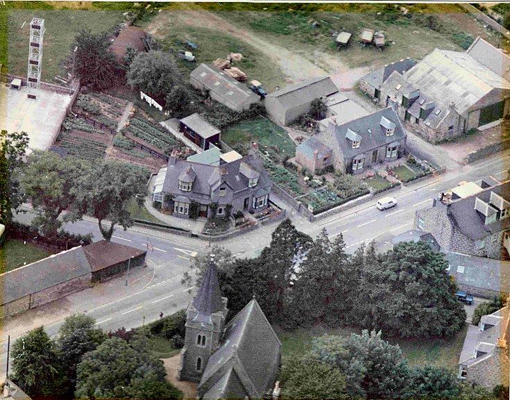 Aerial view of Main Street/Donside Road