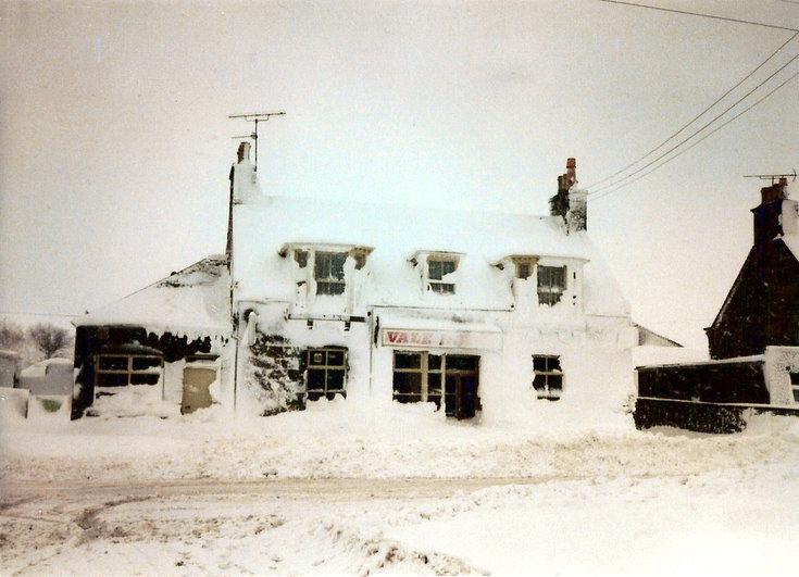 Vale Hotel under snow