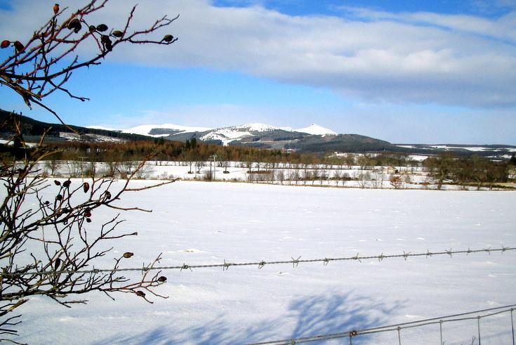 Bennachie from near Monymusk
