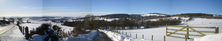 Snow covered Deeside
