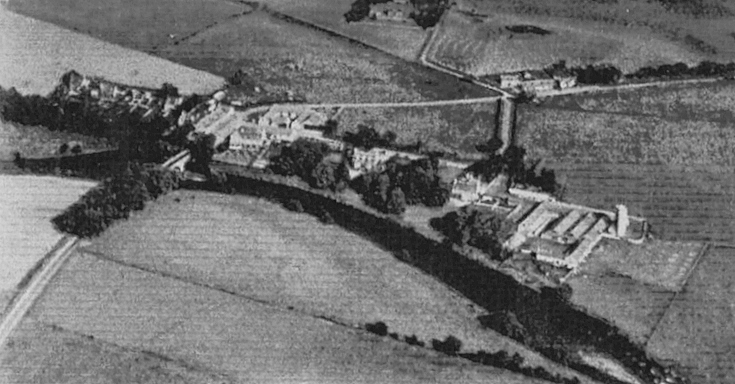 Bridge of Alford from the air