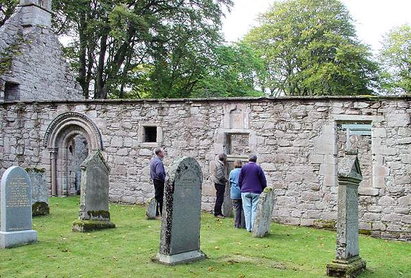 Members of OFARS at Auchindoir Kirk