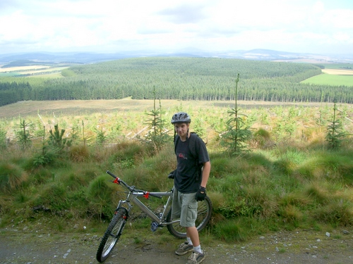 A visitor from Glasgow on the Pitfichie Trail