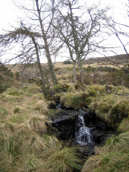 Waterfall in the Denburn descending from Kingsmoss