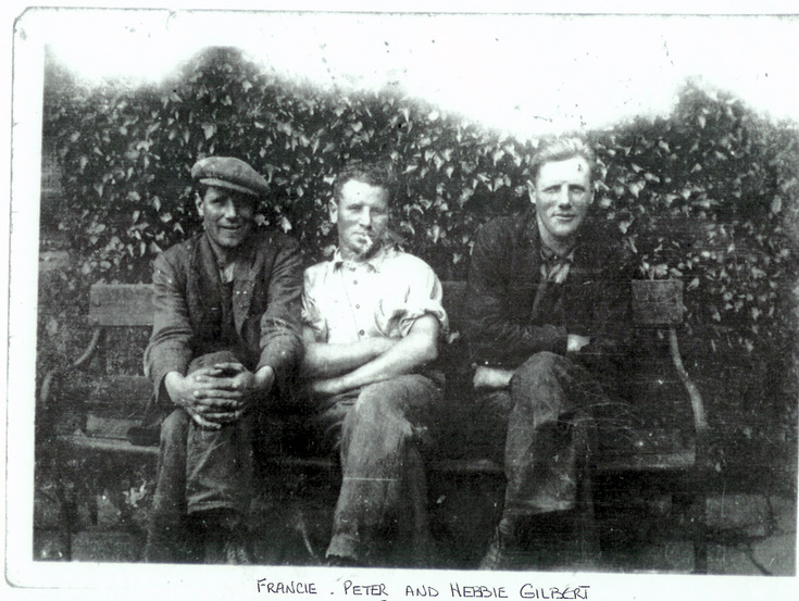 Francie, Peter and Hebbie Gilbert
