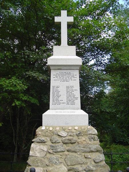 War Memorial at Leochel Cushnie