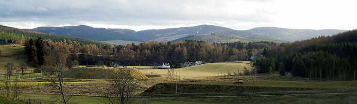 View of the Motte at Strathdon
