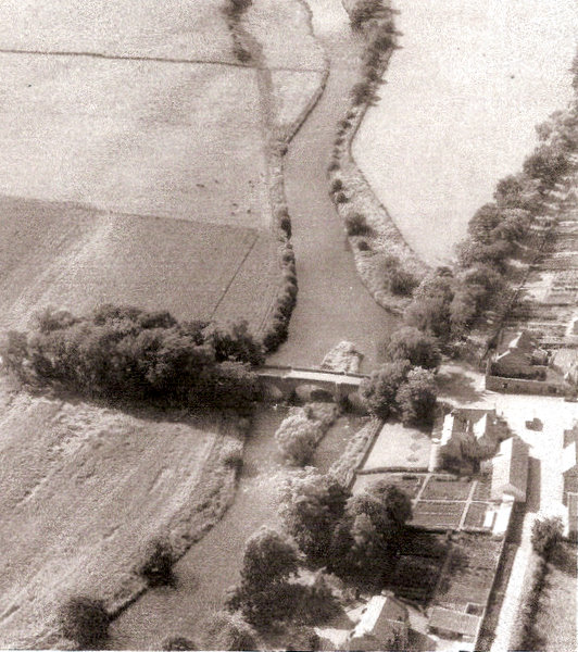 Aerial View of Bridge of Alford