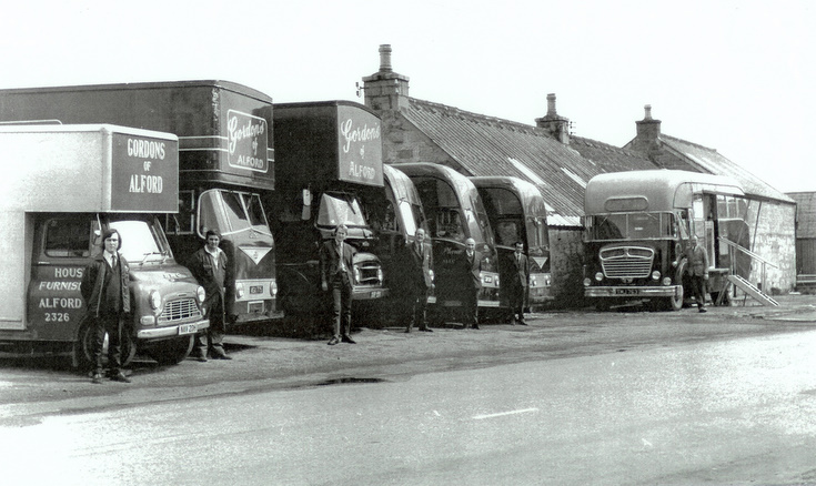 Gordon's Delivery Vans and Staff