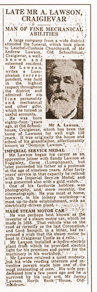 Postie Lawson's Obituary